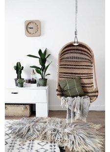 HK Living's hanging chair and Scandinavian mood by Van het kastje naar de muur