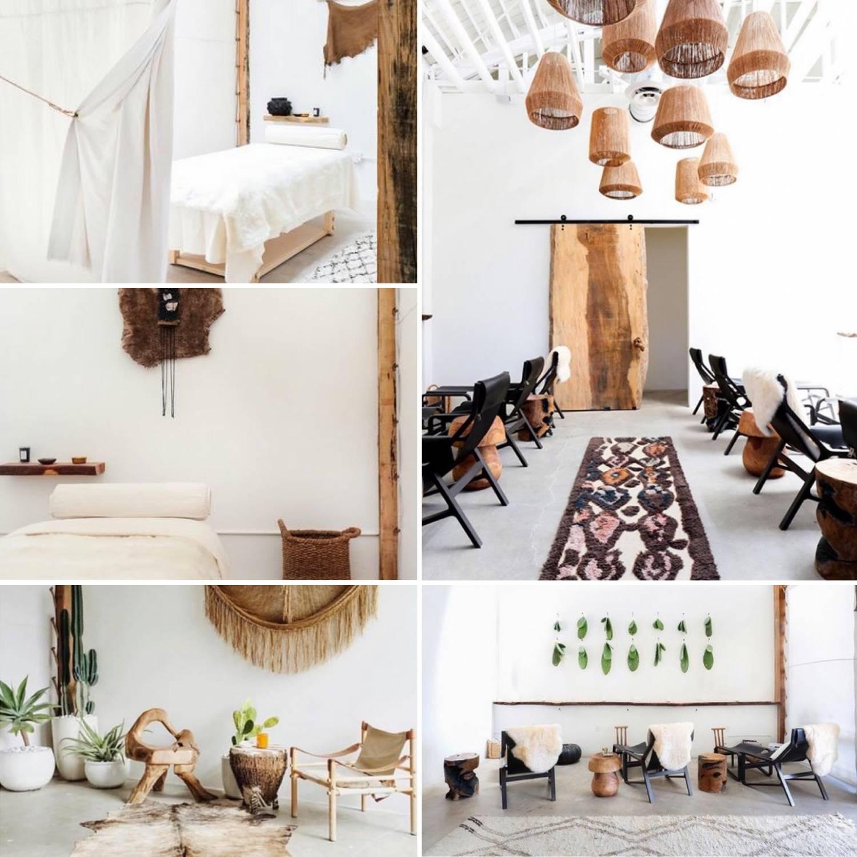 Atmosphère chaleureuse et ethnique pour le Spa The Now Massage - Vu sur Instagram