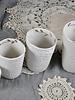 Myriam Ait Amar Ceramics White ceramic cup engraved and gilded - Myriam Ait Amar Ceramics