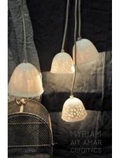 Myriam Ait Amar Ceramics Lámpara de Cerámica con Grabado Interior - Patrón de Encaje - Myriam Ait Amar Cerámica