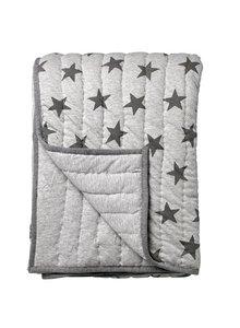 Bloomingville Cobertura gris con patrón estrellas - Bloomingville