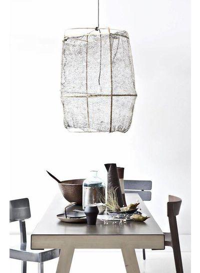 Ay Illuminate ONA Z2 bamboo pendant lamp with Tea Sisal cover - Ø77cm - Grey - Ay illuminate