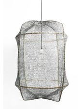 Ay Illuminate ONA Z2 bamboo pendant lamp with Tea Sisal cover - Ø77cm - grey - Ay illuminate