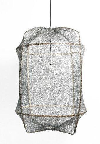 Ay Illuminate ONA Z2 Suspension en bambou avec couverture en thé et Sisal - Ø77cm - grise - Ay Illuminate