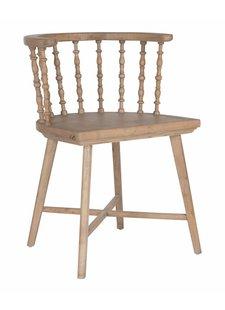 Uniqwa Furniture Chaise en chêne massif 'Aunty Stella' - Naturel - Uniqwa Furniture