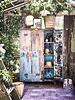 HK Living Armoire Casier bois - Turquoise et Sable - HK Living