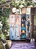 HK Living Locker closet wood - Turquoise and Sand - HK Living
