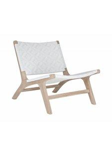 Uniqwa Furniture Occasional Chair 'Cape Town' in teak and ecogreen polyrattan - Natural / White - Uniqwa Furniture