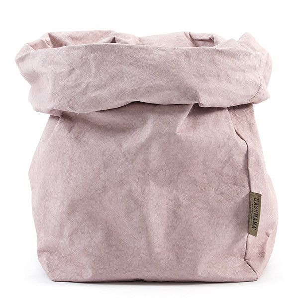 Uashmama Washable Paper Bag in Pink / Quarzo Rosa - Uashmama
