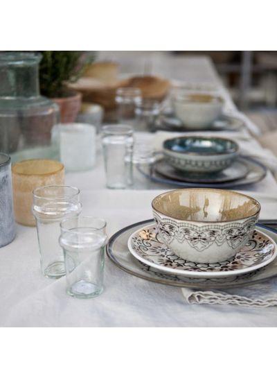 Tell me more Assiette dessert grès 'Trieste' style Ethnique - 21cm - Tell Me More