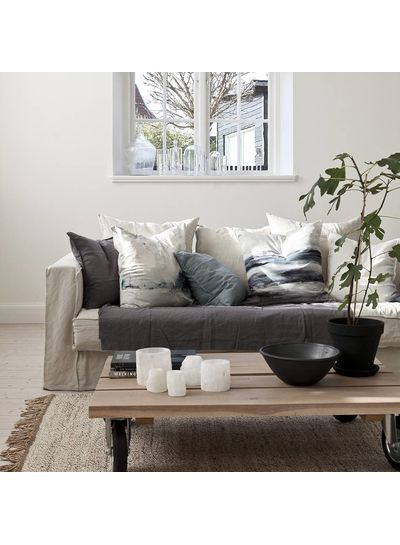Tell me more Hemp rug Tie Mix - White / Cream / Gray - 170x240cm - Tell Me More