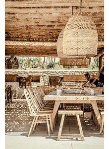 Splendide ambiance Bohème Chic du bar-restaurant Scorpios à Mykonos
