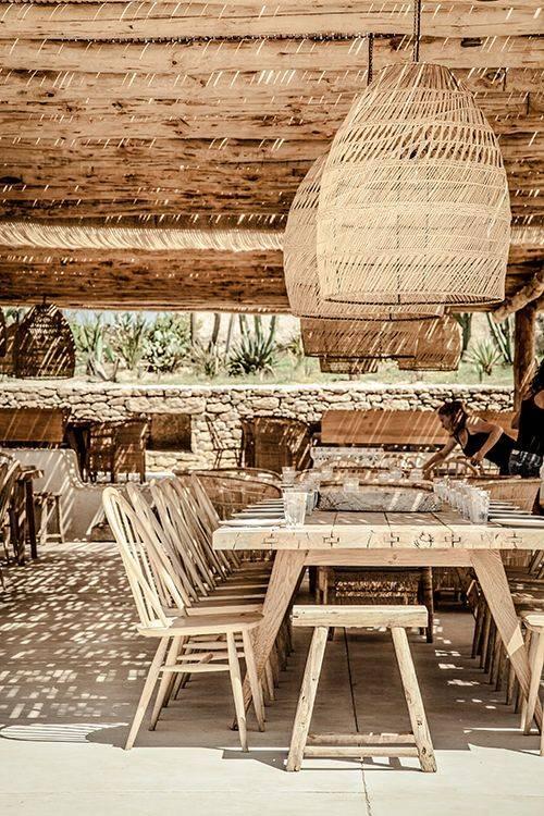 Splendid Bohemian Chic atmosphere - Scorpios restaurant & bar in Mykonos