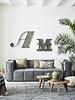 HK Living Canvas Sofa - 3 seater - Ash Grey - HK Living