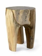 Nordal Raw stool in teak wood - Natural - Nordal