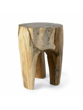Nordal Raw stool in teak wood - Natural - Nordal