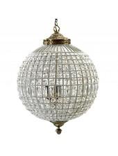 Nordal Grande suspension en boule de cristal- perles de verre / métal - Ø50cm x H72cm - Nordal
