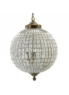 Nordal Large crystal ball pendant lamp - glass beads / metal - Ø50cm x H72cm - Nordal