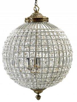 "Nordal Lámpara de Suspesión ""Gran Bola de Cristal"" - Perlas de vidrio / metal - Ø50cm x H72cm - Nordal"