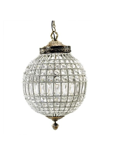 Nordal Large crystal ball pendant lamp - glass beads / metal - Ø35cm - Nordal
