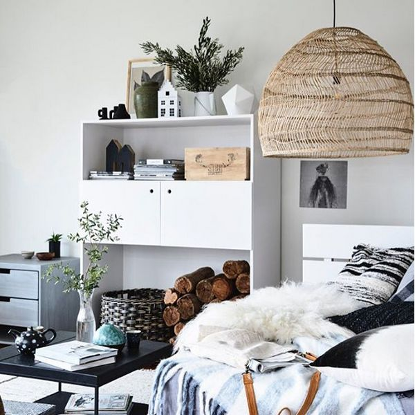 hk living wicker pendant lamp 80cm hk living petite lily interiors. Black Bedroom Furniture Sets. Home Design Ideas