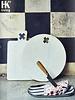 HK Living Planche à pain Marbre blanc ronde - Ø28cm- HK Living