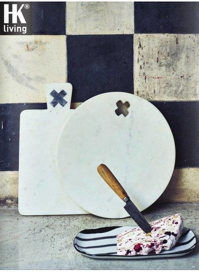 HK Living Marble Breadboard with handle - HK Living