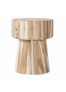 Uniqwa Furniture Tabouret 'Klop' en teck non traité - 40h cm - Naturel - Uniqwa Furniture