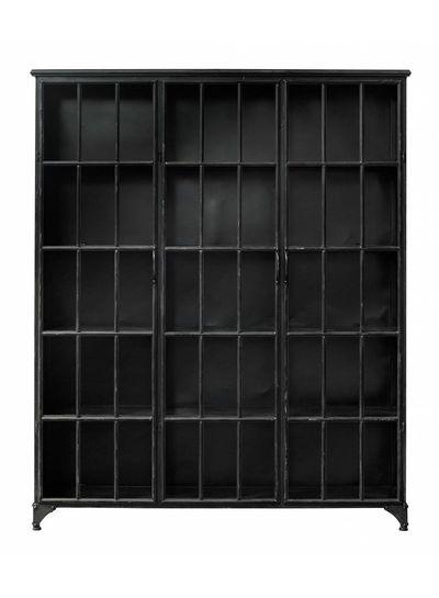 Nordal Industrial metal Downtown Cabinet 3 doors - black - Nordal