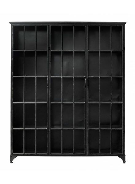 Nordal Industrial metal Downtown Cabinet 3 doors - black - Nordal