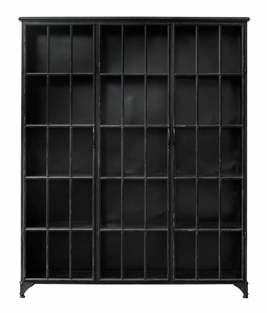 Nordal Biblioteca industrial Downtown de metal 3 puertas - negro - Nordal