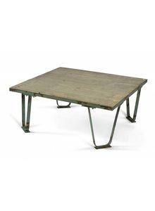 Nordal mesa de centro industrial - metal verde - Nordal