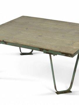 Nordal Industrial coffee table - green metal - Nordal
