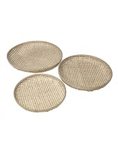 Broste Copenhagen Set of 3 bamboo trays - natural - Broste Copenhagen
