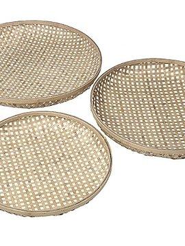 Broste Copenhagen Juego de 3 Bandejas de Bambú - Natural - Broste Copenhagen
