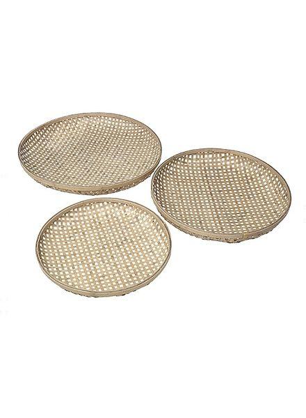 Broste Copenhagen Set of 3 bamboo trays - natural - Broste Copenhagen
