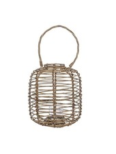 Bloomingville Lantern in wood and glass - Ø25 - H35cm - Bloomingville