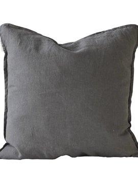 Tell me more Cushion cover 100% linen - dark gray - 50x50 - Tell Me More