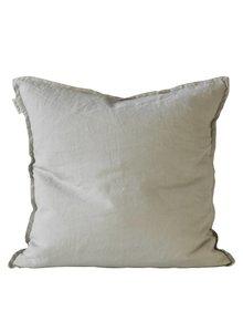 Tell me more Funda de colchón 100% lino - gris claro - 50x50 - Tell Me More