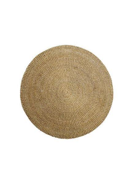 Bloomingville Round seagrass rug - natural - Ø80cm - Bloomingville