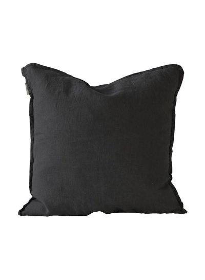 Tell me more Funda de colchón 100% lino - negro - 50x50 - Tell Me More