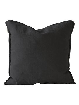 Tell me more Cushion cover 100% linen - black - 65x65cm - Tell Me More