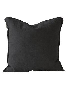 Tell me more Housse de coussin 100% lin - noir - 65x65cm - Tell Me More