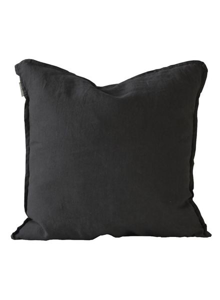 Tell me more Cushion cover 100% linen - black - 65x65cm - Tell Me More