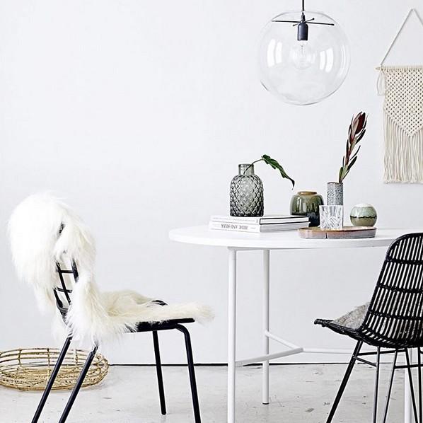 Bloomingville Chair 'darling' in black rattan - Bloomingville