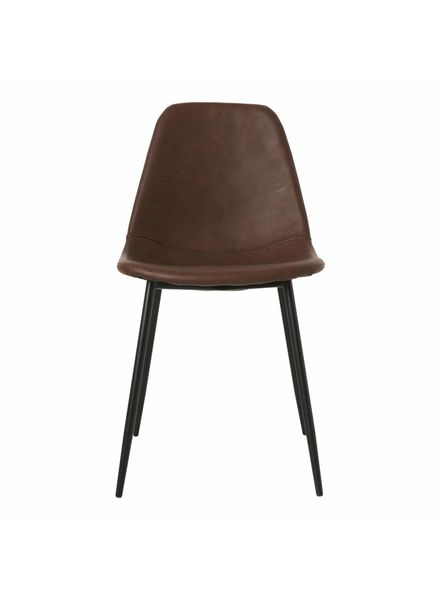 House Doctor Chaise Scandinave 'Forms' - marron cognac - House Doctor
