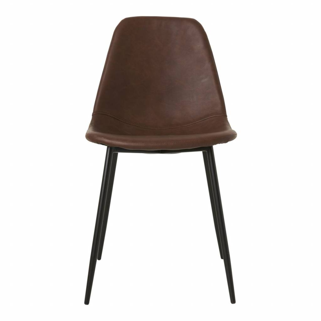 House doctor scandinavian dining chair cognac brown for Chaise scandinave
