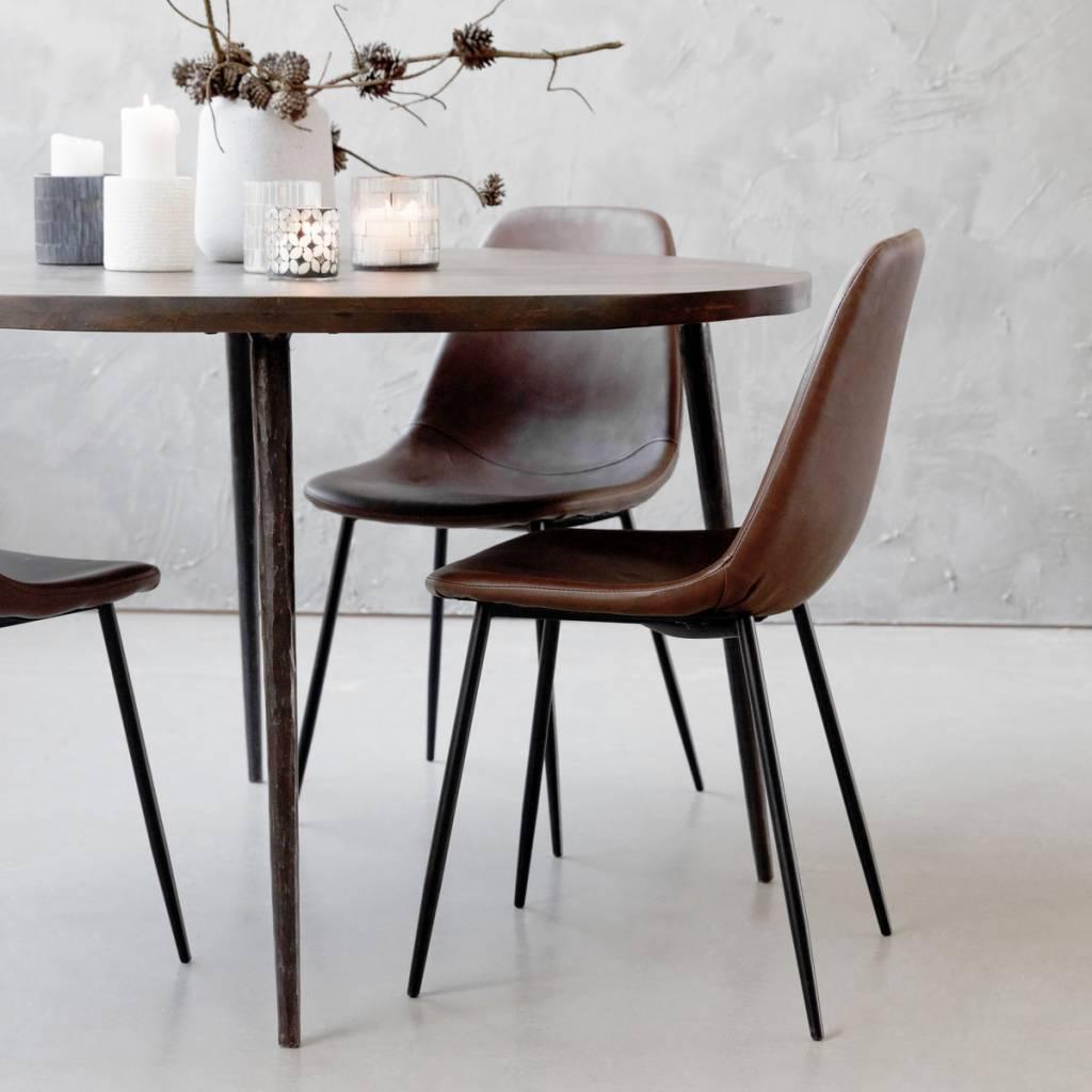 House Doctor Scandinavian dining chair - cognac brown - House Doctor
