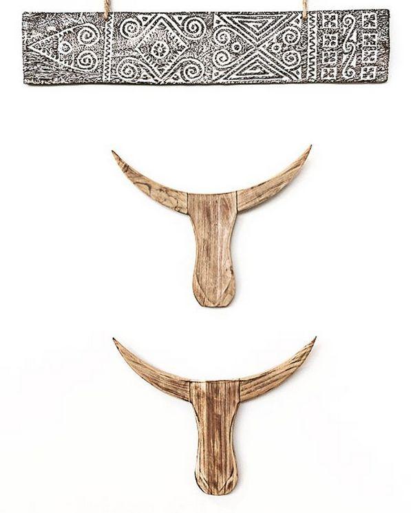 MaduMadu Wall hanging buffalo - 80xh16cm - MaduMadu