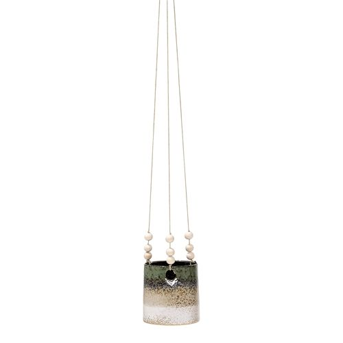 Bloomingville Hanging flower pot - green - Bloomingville